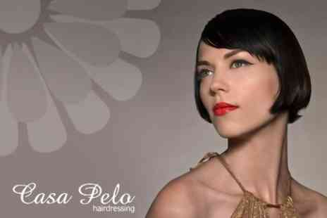 Casa Pelo Hairdressing - Full Highlights, Lowlights or Semi Permanent Colour Plus Restyle or Cut and Blow Dry - Save 68%