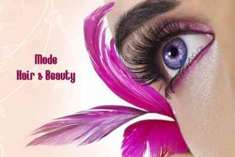 Mode hair & Beauty - Full Set of Semi-Permanent Eyelash Extensions - Save 75%