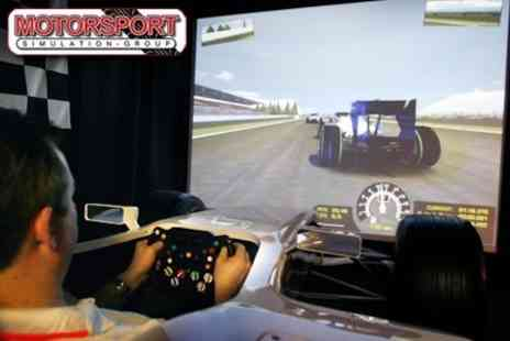 Motorsport Simulation Group - Formula 1 and High Performance Sportscar Simulator Session For Two - Save 61%