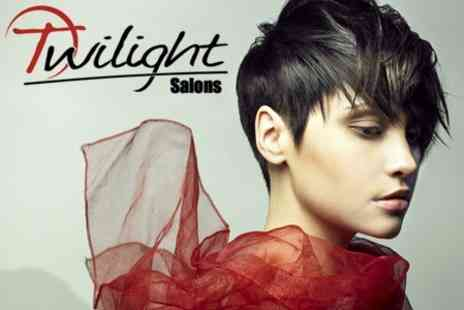 Twilight Salon - Wash,Cut & Blow Dry Plus Choice of Conditioning or Gloss Treatment - Save 74%
