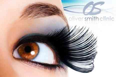 Oliver Smith Clinic - Semi-Permanent Eyelash Extensions With Eyebrow Wax and Tint - Save 68%