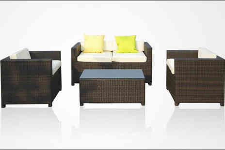Rattano.co.uk - Four seater Santiago rattan sofa set - Save 75%