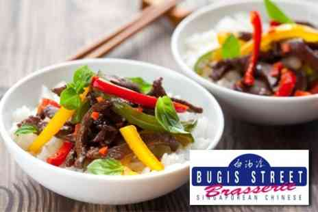 Bugis Street Brasserie - Three Courses of Oriental Fare For Two - Save 64%