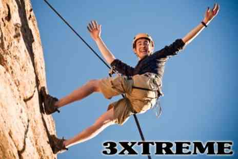 3XTREME - Two Hours of Rock Climbing and One Hour of Abseiling - Save 66%