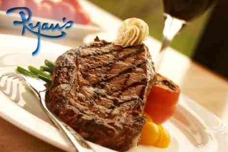 Ryans Bar - Two Course Surf and Turf Meal for Two with Champagne - Save 56%