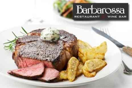 Barbarossa - Two Course Meal For Two With Glass of Prosecco Each - Save 57%