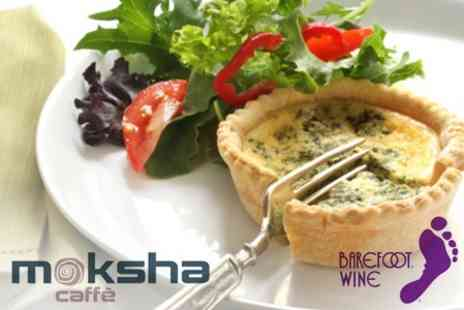 Moksha - Quiche and Salad For Two Plus Glass of Wine Each - Save 60%