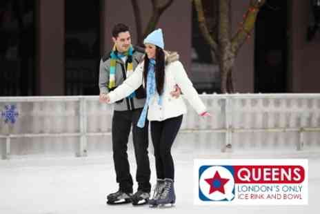 Queens Ice and Bowl - Ice Skating for Two for £10 at Queens Ice and Bowl - Save 58%