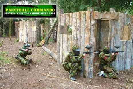 Paintball Commando - Paintballing for Six People, including Equipment, 100 Paintballs Each and a Three Course BBQ Lunch - Save 91%