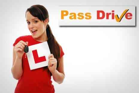 Pass Drive - Three One Hour Driving Lessons - Save 75%