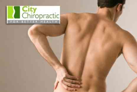 City Chiropractic - Full Chiropractic Consultation, Examination, Report of Findings plus Three Follow Up Treatments - Save 80%