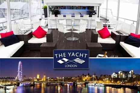 The Yacht London - Three Course Meal With Wine For Two On Board The Yacht London - Save 60%