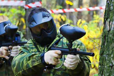 All Out Paintball - Day of paintballing, 100 paintballs and lunch - Save 87%