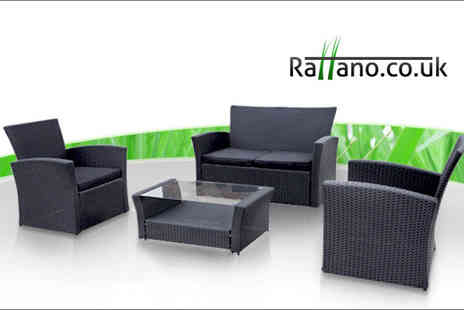 Rattano.co.uk - Four seater Rialto garden rattan sofa set on this stylish outdoor seating - Save 75%