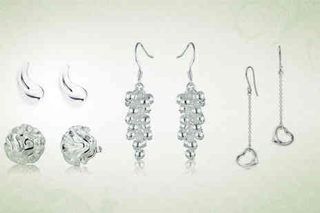 Silver Republic - Sets of beautiful silver earrings from Silver Republic - Save 76%