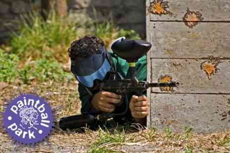 Paintball Park - Full Day Paintballing Experience with 150 Balls and Hot Lunch For One - Save 85%