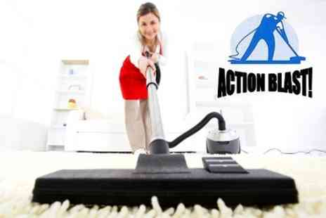 Action Blast - Carpet Cleaning For One Rooms - Save 77%