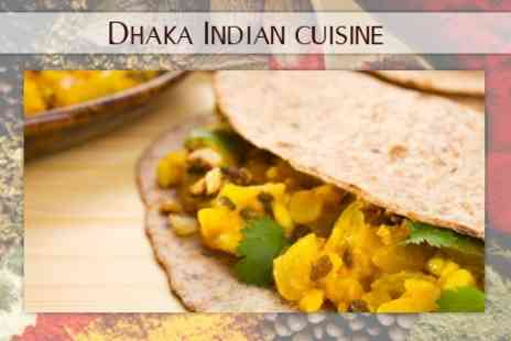 Dhaka Indian Cuisine - Two Course Indian Meal With Rice For Two - Save 63%