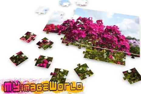 My Image World - Personalised A3 Jigsaw Puzzle With Printed Frame - Save 68%