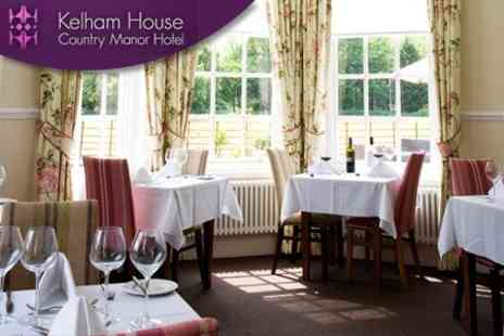 Kelham House Country Manor Hotel - Three Courses of Classic British Fare For Two with Sparkling Wine - Save 59%