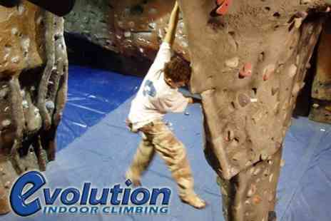 Evolution Indoor Climbing - Two Hours Indoor Rock Climbing, Bouldering, or Abseiling Tuition - Save 61%