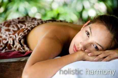 Holistic Harmony - Full Body Aromatherapy Massage & Moisturising With Pressure Point Scalp Massageand Reflexology Taster - Save 63%
