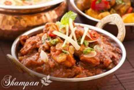 Shampan Indian - Two Course Indian Meal For Two With Rice and Naan Each - Save 52%