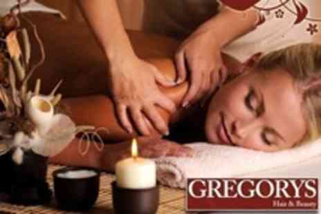 Gregorys Hair and Beauty - Choice of One Hour Massage Plus 30 Minute Facial - Save 71%
