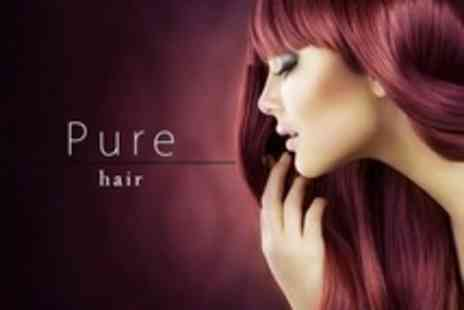 Pure Hair - Restyle Cut and Blow Dry With L Oreal Conditioning Treatment Plus Full Head Highlights or Colour - Save 62%