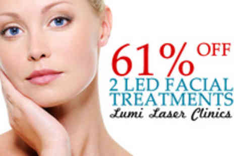 Lumi Laser Clinics - Two LED facial sessions from skin care specialists - Save 61%
