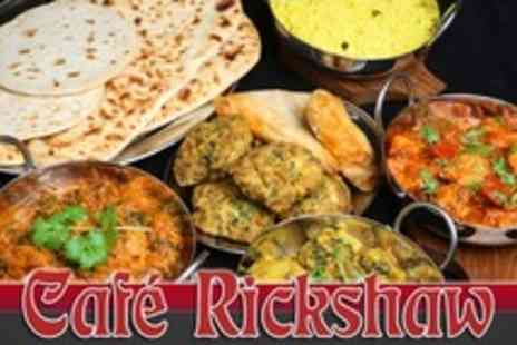 Cafe Rickshaw - Six Course Indian Meal Plus Cocktail Pitchers - Save 74%