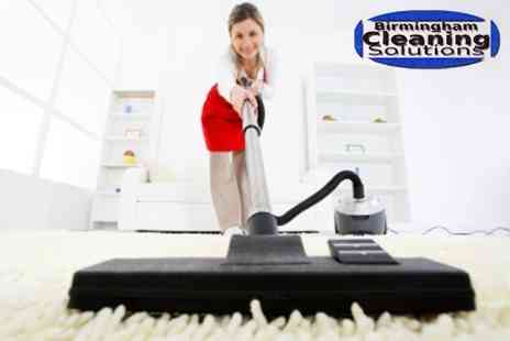 Birmingham Cleaning Solutions - Domestic Cleaning with Carpet Cleaning in Two Rooms or One Room - Save 70%