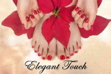 Elegant Touch - Shellac Manicure and Pedicure - Save 70%