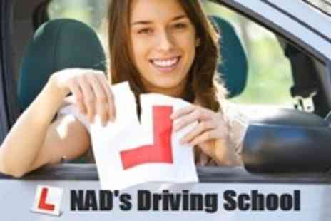 Nad's Driving School - Nine Hours of Driving Lessons Plus Practical Test - Save 62%