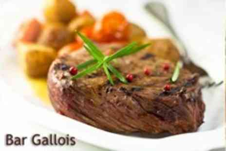 Bar Gallois - Two Course Meal and Wine for Two - Save 14%