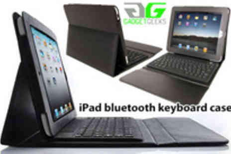 Gadget Geeks - Black PU Leather iPad case with integrated Bluetooth Keyboard� Plus FREE Stylus pen - Save 70%