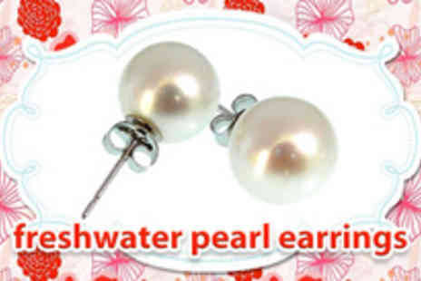Diamanique - Pair of AAA fresh water pearl earrings - Save 87%