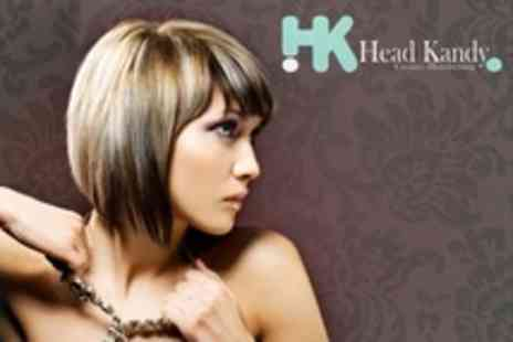 Head Kandy - Cut and Half Head of Highlights or Full Head of Colour - Save 66%