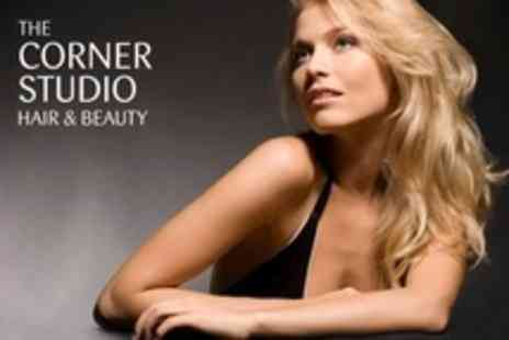 The Corner Studio - Half Head Highlights or Full Head Colour With Restyle, Cut and Finish - Save 71%