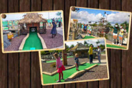 Adventure Golf Island - Eighteen holes of adventure golf, 50 paintballs for the all new shooting range for two - Save 50%