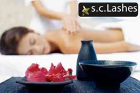 S.C. Lashes and Beauty - Aromatherapy or Swedish Massage Plus Facial - Save 65%