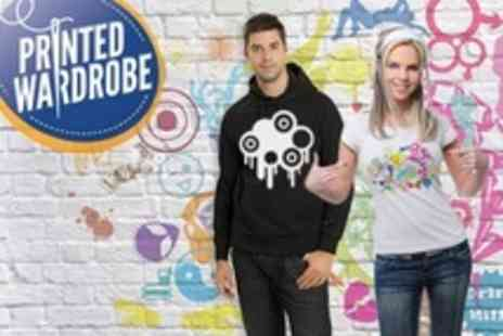 Printed Wardrobe - Personalised T Shirts or Hoodies Including Delivery - Save 50%