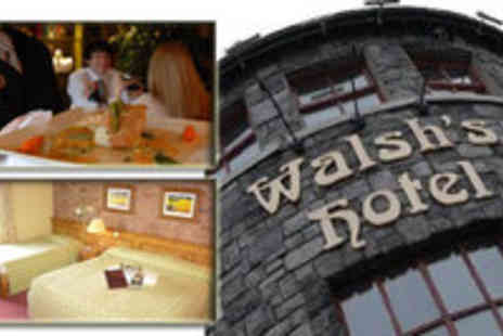 Walshs Hotel - One Night B&B for Two and Evening Meal - Save 49%