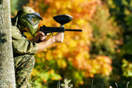 Point Blank Paintball Games - A day of paintballing for up to 6 including breakfast, lunch and 100 balls - Save 94%