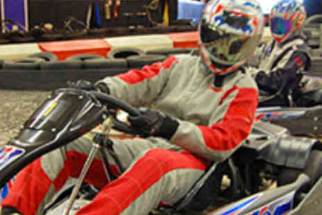 F1 Racing Premier Karting - 40 Laps of Indoor Karting for Two People - Save 51%