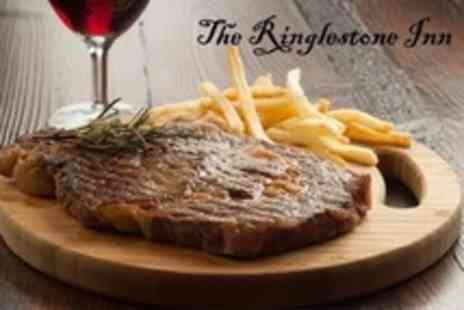 The Ringlestone Inn - Two Course Evening Meal With Fruit Wine for Two - Save 59%