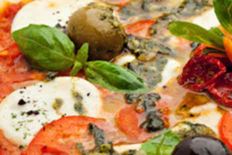 Bella Italia - Two 12 Inch Pizzas and Two Glasses of Wine or Beer - Save 51%