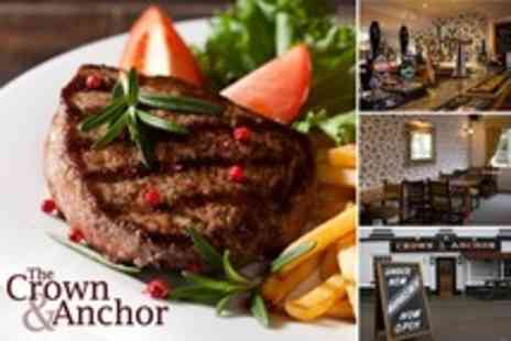 The Crown and Anchor - Steak Dinner For Two - Save 50%