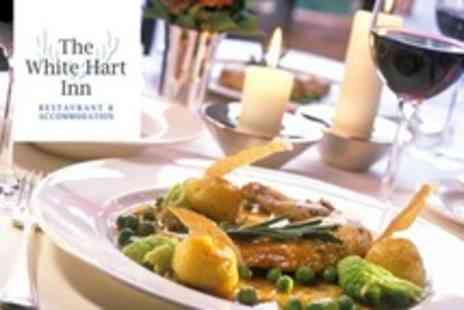 The White Hart Inn - Two Course La Carte Meal For Two With Glass of Wine - Save 59%