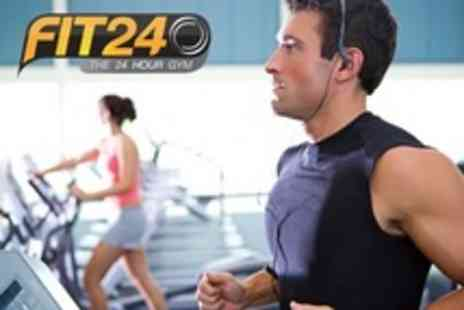 Fit24 - Ten Gym Passes With Access to Exercise Classes - Save 80%